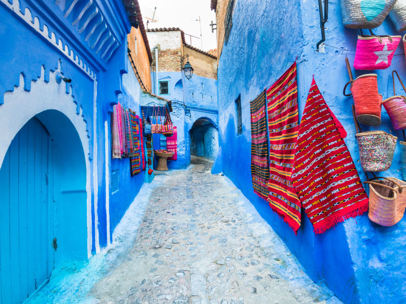 moroccan blue streets